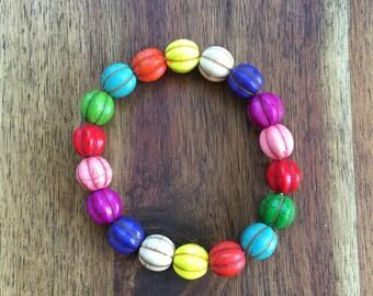 Fiesta Dyed Howlite Bracelet