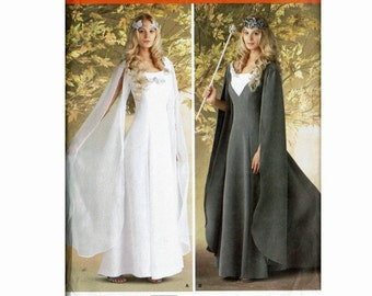 Costumes for Adults Misses Ladies Simplicity 4940 Medieval Renaissance Gown Sizes 8 10 12 14 Bust 31 1/2 32 1/2 34 36 Uncut Sewing Pattern