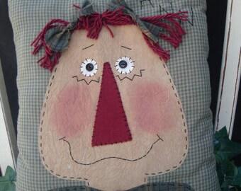 Raggedy Ann Applique Pillow E Pattern