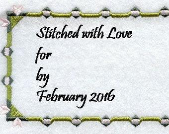 Embroidered Quilt Label Sagebud