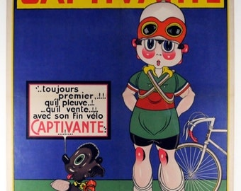 Captivante Vintage Bicycle Poster