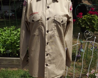 Vintage Boy Scout Long Sleeve Shirt Size S