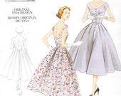 1950s Retro Womens Dress Garden Party Dress Vogue Sewing Pattern V2960 Size 12 14 16 18 Bust 34 36 38 40 UnCut Vintage Vogue Model
