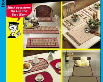 Simplicity Pattern 5964 Home Decor - Easy Table Treatments - Place Mats and Runners NEW