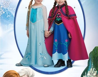 Simplicity Pattern 1233 Children's Disney's Frozen Costumes Sizes 3-8 NEW