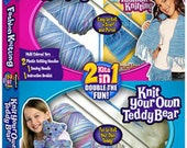 Beginner Knitting Set  Fashion/Knitting by Rose Art For Girls - Knit A Fashion Scarf And Purse And A Teddy Bear