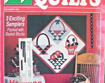 Stitch 'N Sew Quilts Magazine, Vintage December 1987