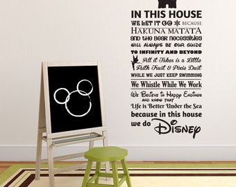 We Do Disney (CASTLE version) House Rules vinyl wall decal