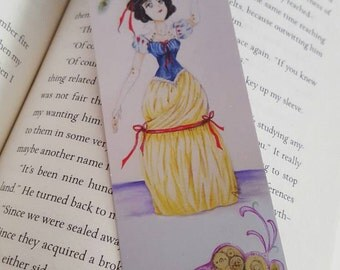 Steampunk Snow White Bookmark, Fairytale Princess, 2x6