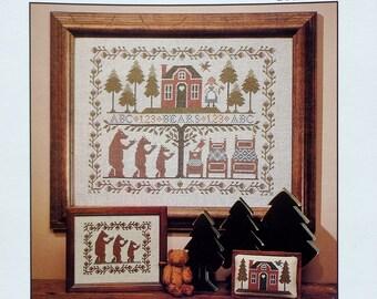 The Prairie Schooler | THREE BEARS SAMPLER | Book No 12 | Counted Cross Stitch Pattern