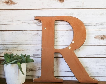 XL Vintage Shop Letter R, Bronze