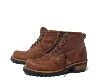 7 M | GUESS by Georges Marciano Moc Toe Hiker Ankle Boots