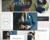 Photography Marketing Set Templates: Authentic Studio - Business Marketing & Forms Bundle