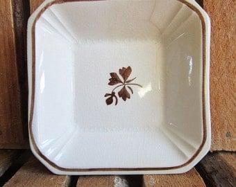 Square Dish - Sauce Dish - Small Square Dish - Tea Leaf - Ironstone China - Alfred Meakin