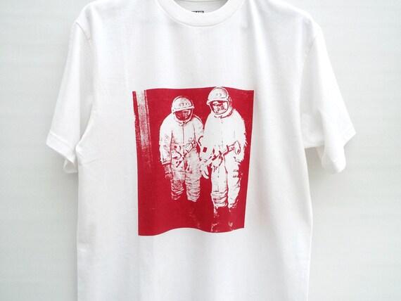 Men's Tshirt, Printed Tshirt, Screen-Printed Tee, White Tshirt