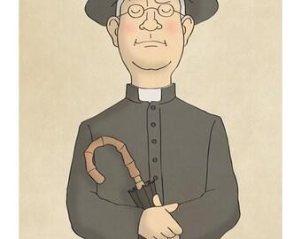 Father Brown - G. K. Chesterton - Illustration Print