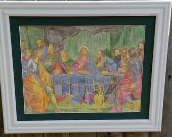 11 X 16 Framed Picture The Last Supper- 11 x 16 Framed Picture- The Last Supper Picture- The Last Supper Drawing- 11 x 16 Frame Painting