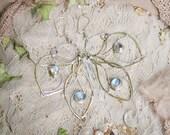 Faerlïa Papilionoïdea Moonstone Art Earrings