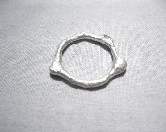 Ring in fairmined silver,Forged Ring,Made in Barcelona,Designed with love,Fair trade jewelry, Ecological silver, sustainableLava