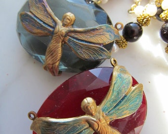 Crystal Winged Dragonfly Woman Jewel