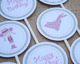 Cowgirl Cupcake Toppers