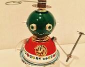 Reserved Custom order - Nina Bot - found object robot sculpture assemblage by Cheri Kudja with Bitti Bots