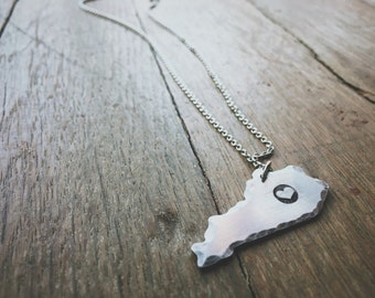 Hand stamped Kentucky Necklace