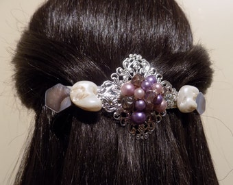 Large Barrette Handmade Womans Gift/ Victorian Clip