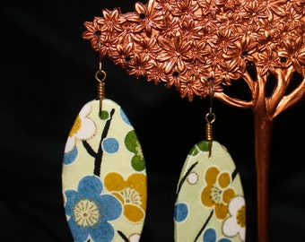 yuzen paper earrings
