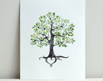 The Summer Folk Tree / Instant Wall Art or Home Decor Gift / Digital File