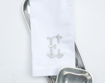 Monogrammed Cloth Napkins, Noble Embroidered Cloth Napkins, personalized napkins, custom napkins, wedding napkins, fairytale