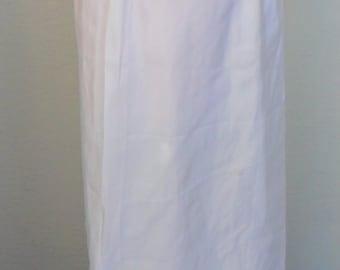 Vintage Slip Maxi Half Slip White Taffeta Pembrooke Size Medium