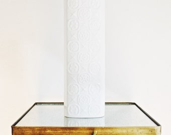 Mid Century Large Scale Glazed White Porcelain Vase by Kaiser