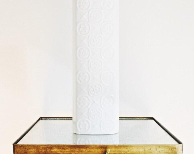 Mid Century Large Scale Glazed White Porcelain Vase // AK Kaiser