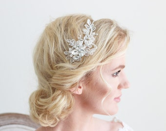 Ivory Lace Crystal Headband Bridal Wedding Accessories