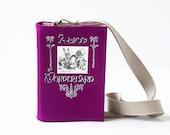 Alice In Wonderland Purple Felt Book Bag