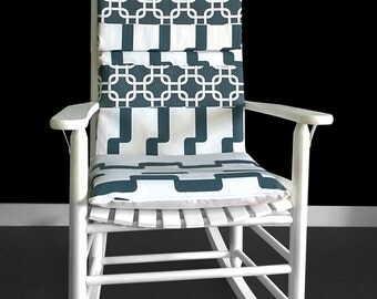 Rocking Chair Cushion - Gotcha Rhyme Charcoal, Ready to Ship