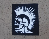 the exploited mohawk skull sew on patch