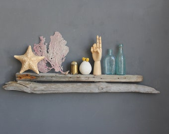 Large Sculptural Natural Driftwood Shelf / Size Large