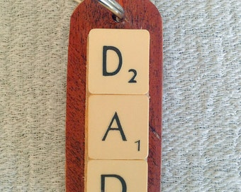 Upcycled Scrabble Keyring