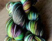 """Sock yarn - 75/20/5 SW Merino/Nylon/Stellina - Valentine's Day - """"Secret Admirer"""""""