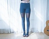 Sheer Leggings, Cut Out Lace Leggings, Funky Leggings, Women Leggings, Rocker Leggings