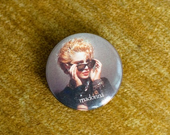 Vintage 80s Small Madonna Pin-back Button