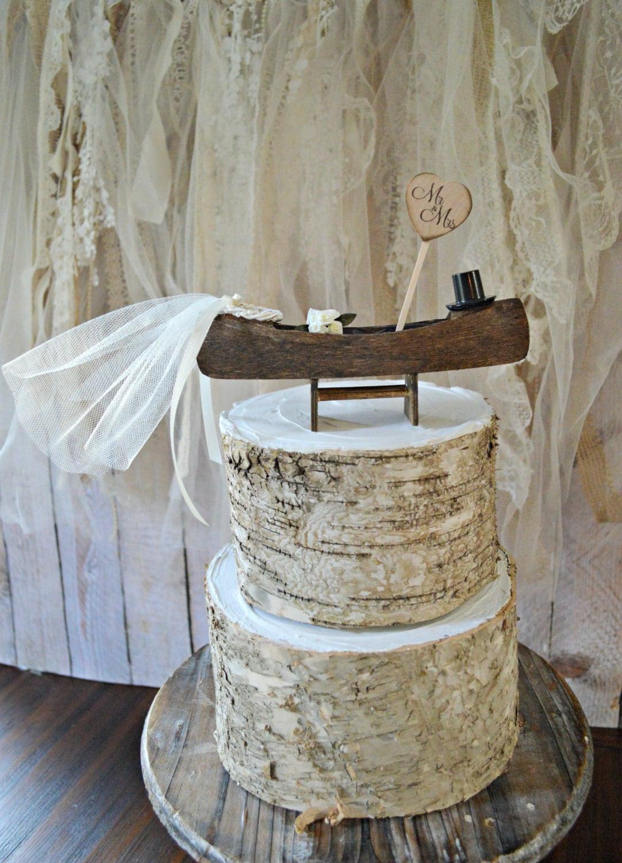 Gone Fishing wedding cake topper-fishing-bride and