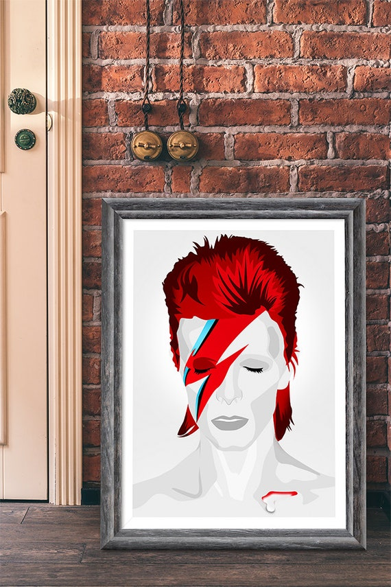 David bowie ziggy stardust pop art home decor by for Pop wall art