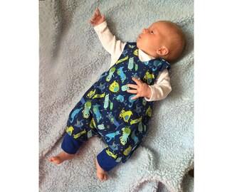 Reversible Baby Romper pattern Pdf sewing JUMPY, Children Boy Girl Harem Romper pattern, Easy toddler newborn 3 6 9 12 18 m 1, 2 3 4 5 6 yrs