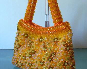 Vintage Walborg  Faceted Beads Handbag