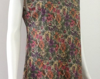 Pretty Vintage Cotton Floral Dress