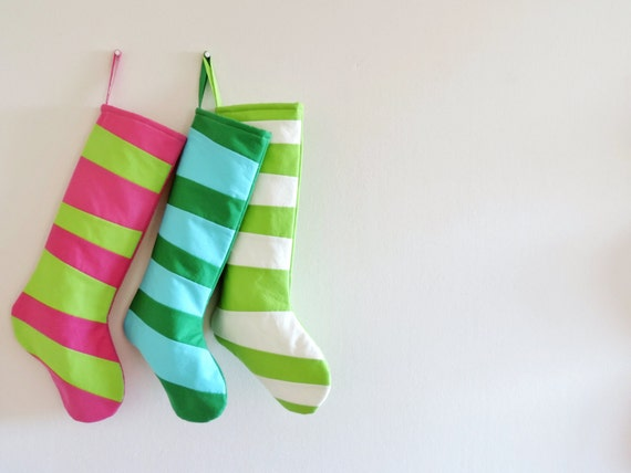 Personalized Christmas Stocking Personalized, Fireplace Mantle Decor Decoration, Kids Family Girl Children, Modern Striped Holiday Dr Seuss
