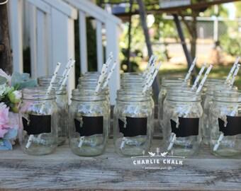 Mason Jar Wedding Favors,State Labels,Mason Jar Labels,Rustic Wedding Decor,Wedding Favors,Wedding Favor, 100 NON TOXIC Chalkboard Labels